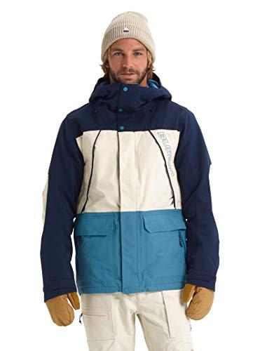 Burton Men's Breach Jacket, Dress Blue/Almond Milk/Storm Blue, Medium (Snowboard Jackets Men Burton)