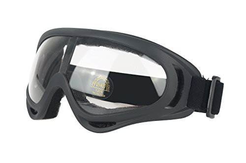 SiFREE UV Protective Ski Goggles with Windproof Dustproof Anti-shock for Snowboard Snowmobile Bicycle Motorcycle (Transperant)