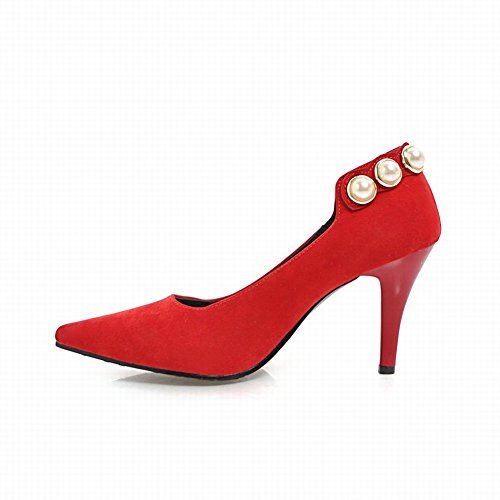 Charme Voet Dames Elegante Puntschoen Hoge Hak Business Pumps Schoenen Rood