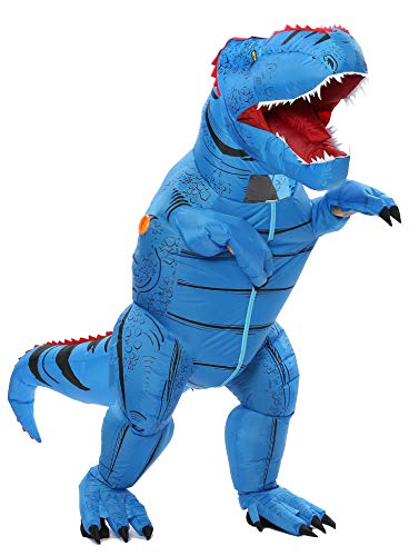 Funny Costumes Inflatable Dinosaur Costumes (Blue Adult)