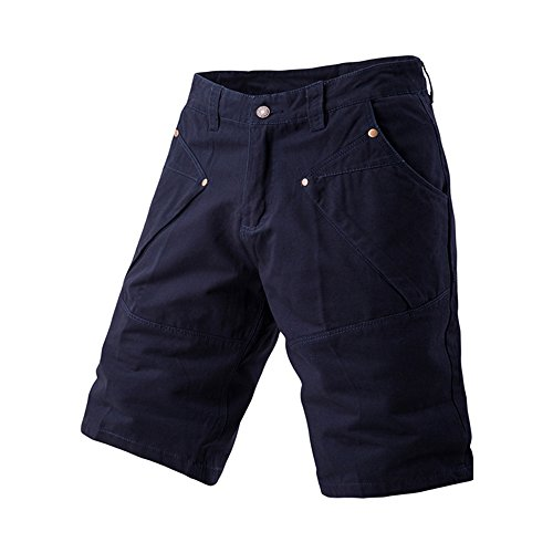 Men's Summer Multi-Pocket Cotton Oversize Cargo Shorts Navy Blue Tag 40 (Classic Tete A-tete)