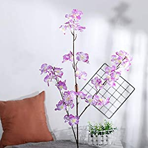 AMSKY Artificial Flowers with Vase,Artificial Silk Fake Flowers Pear Blossom Floral Wedding Bouquet Party Decor,Moscow Mule Mugs 49