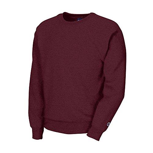Champion Boys Big Boys' Powerblend Eco Fleece Sweatshirt, Maroon, M