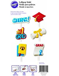 Wilton 2115-1729 Graduation Lollipop Candy Mold