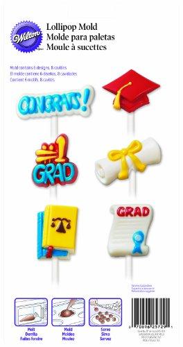 Graduation Candy Molds - Wilton 2115-1729 Graduation Lollipop Candy Mold