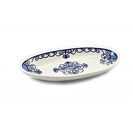 Plana Oval de cerámica, diseño Hierro Forjado: Amazon.es: Hogar