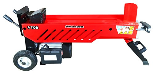 Powerhouse Log Splitters XM-580 9 Ton Electric Hydraulic Horizontal Log Splitter, Red/Black/Silver by Powerhouse Log Splitters