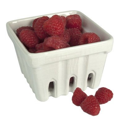 Artland Ceramic Berry Fruit Basket, White, Set of 4