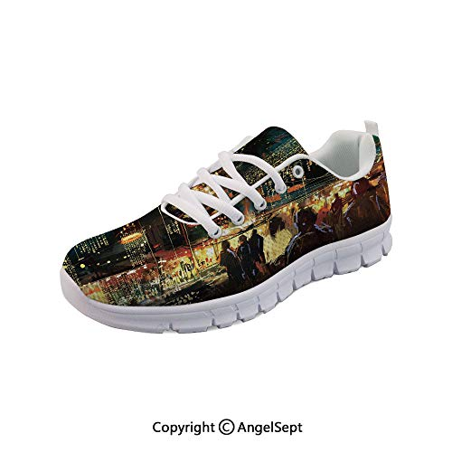 Athletic Running Shoes of Shopping Street City Nightlife Lightweight Sneakers -