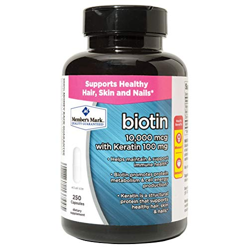 Member s Mark Biotin 10,000mcg with Keratin 100mg 250 ct. pack of 2