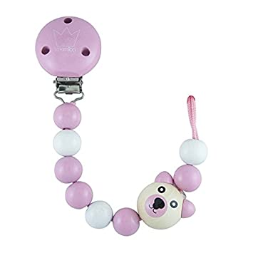 Amazon.com: Little mico Teddy Clip para chupete, color rosa ...