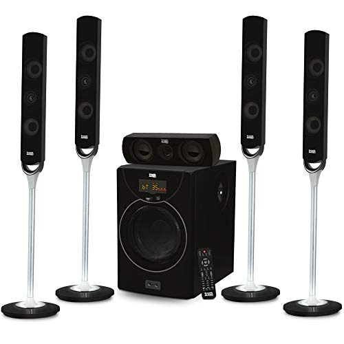 Acoustic Audio AAT2000 Tower 5.1 Bluetooth Home Speaker Syst