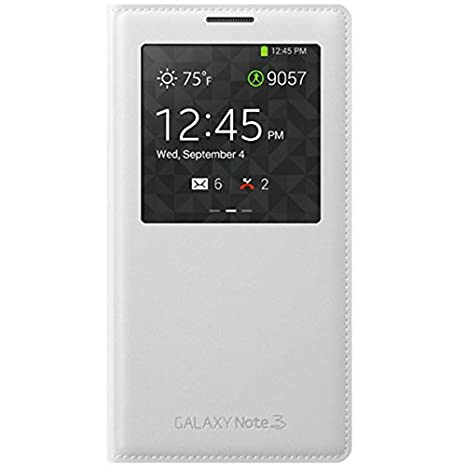 Samsung Galaxy Note 3 S-View Funda Folio Wallet Case, Blanco ...
