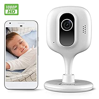 Zencam 1080p WiFi Camera, Indoor Security Wireless IP Camera, Two-Way Talk, Night Vision for Home, Office, Baby, Pet Cam with MicroSD & Cloud Storage, White Updated Firmware 2020 Version (E2W)