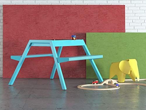 Smelis Kids Multi Purpose Picnic Table, Turquoise by Curonian (Image #2)