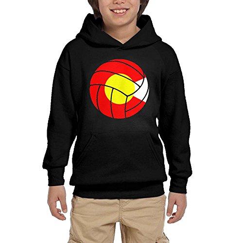 Cheap Colorado Flag Volleyball Boys Pullover Hoodie Hip Hop Pocket Sweatshirts free shipping
