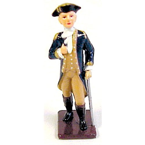 American Revolutionary War Colonial Army General George Washington Metal Hand Painted Collectible Figure Toy Soldier W Britain Type