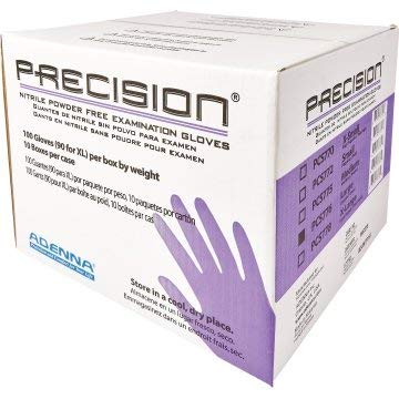 Adenna Precision 4 Mil Nitrile Powder Free Exam Gloves, XL- Case of 900 by Adenna (Image #1)