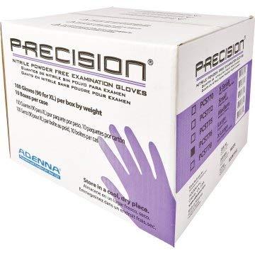 Adenna Precision 4 Mil Nitrile Powder Free Exam Gloves, L- Case of 1,000 by Adenna (Image #1)