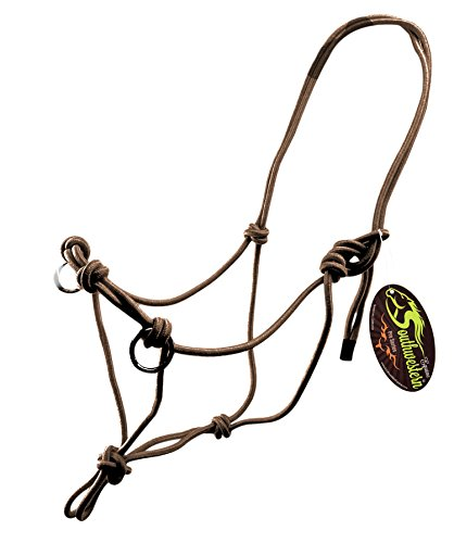 Side Pull Rope Halters with Nickle Plated Rings - Different Colors - By Southwestern Equine (Horse, - Pull Side