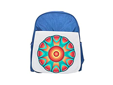 Colorful Abstract Diseño element. Printed Kid 's Blue Backpack, Cute de mochilas