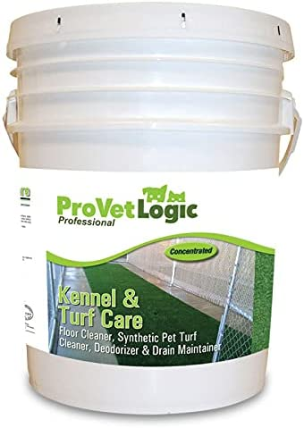 ProVetLogic Kennel & Turf Care- Floor Cleaner, Synthetic Pet Turf Cleaner, Deodorizer & Drain Maintainer (Concentrated)- 5 Gallon EZ Pour Pail