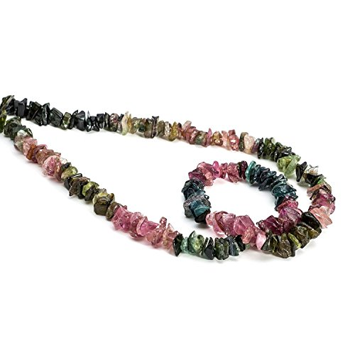 Neerupam Collection Multi Colour Color Natural Brazilian Tourmaline Gemstone Uncut Chip Beads 1 Lines Loose 33 inch Strand