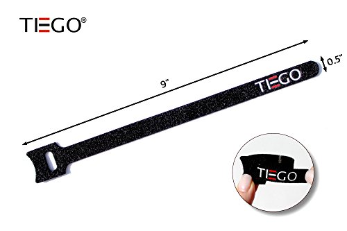 [20 Pack] Hook and Loop Reusable Fastening Cable Tie Down Straps, Adjustable Sizes Hook and Loop and Ties for Securing Items at Home, Work and Outdoor, 20 Pack Combo by TIEGO (Image #6)