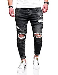 BEHYPE Men's Jeans Pants with Destroyed effect and Ripped Knees JN-2763