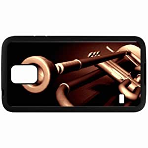Personalized Samsung S5 Cell phone Case/Cover Skin Trumpet Black