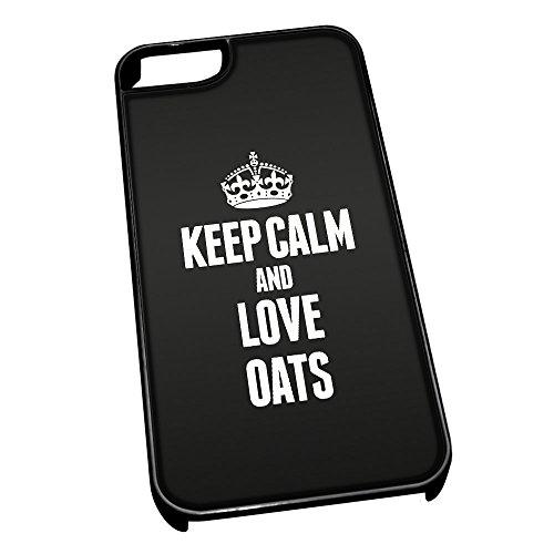 Nero cover per iPhone 5/5S 1321nero Keep Calm and Love avena