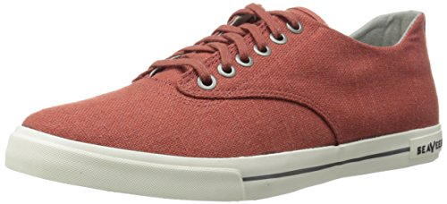 Seavees Menns Hermosa Plimsoll Standard Mote Sneaker Cayenne