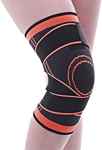 膝パッド バスケットボール膝パッドスポーツパンツソックスケアふくらはぎプロテクター夏フィットネス乗馬機器ランニング。 (色 : オレンジ, サイズ : XL)