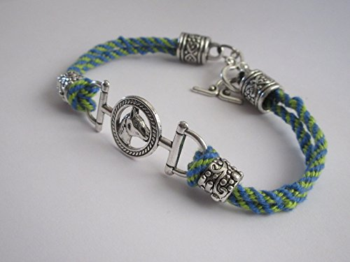 Bali Weave Bracelet - Handmade Kumihimo Weave with Horse Link Bracelet