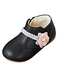 Iuhan  1-6Years Baby Shoes Girls Flower Princess Sneakers Casual Boots Zip Shoes