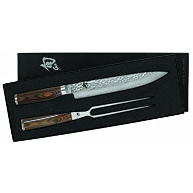 Shun TDMS0200 Premier 2-Piece Carving Knife Boxed Set, Silver