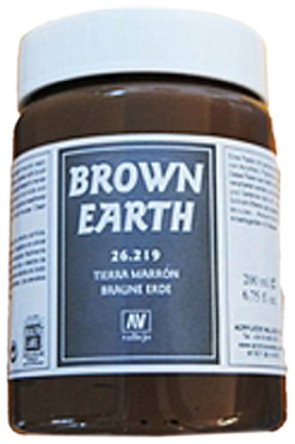Vallejo 26219 Stone Textures. Brown Earth 200ml