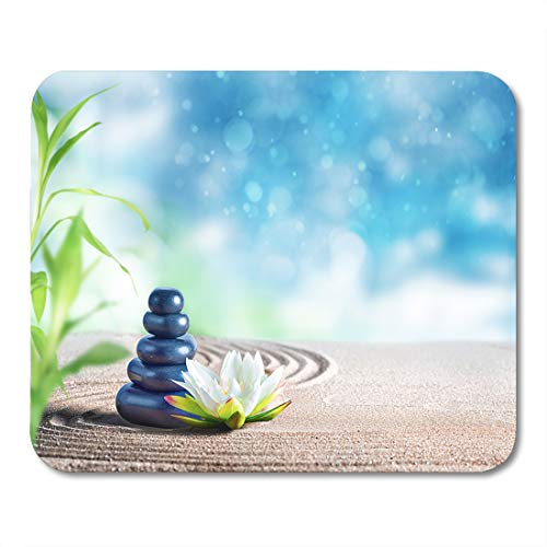 - Semtomn Mouse Pad Mind Therapy Relaxing Spa Treatment Oriental Stones Sand Body Mousepad 9.8