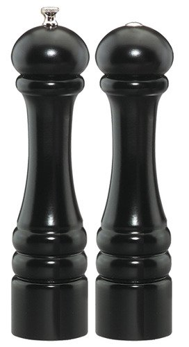 Chef Specialties Imperial Ebony Maple Wood 2 Piece Salt Shaker and Pepper Mill Set Home Supply Maintenance Store