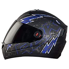 Steelbird SBA-1 R2K Live ABS Material Shell Full Face Helmet in Matt Finish Helmet Fitted with Clear Visor and Extra…
