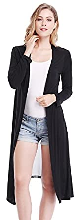 Women Long Sleeves Chiffon Stitching Long Maxi Cardigan Tops Coat ...