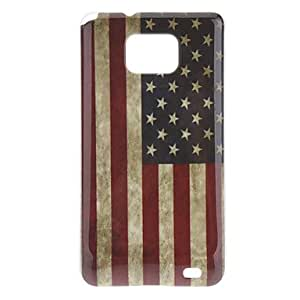 Retro Style US Flag Pattern IMD Hard Case for Samsung Galaxy S2 I9100