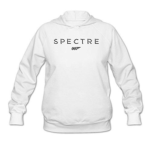 Women's 007 Film James Bond Spectre Poster Logo Sweatshirts White