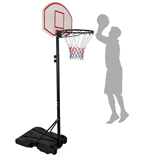 Nova Microdermabrasion Portable Basketball Hoop Stand Backboard System Adjustable-Height W/Wheels Kids Junior Goal Indoor Outdoor
