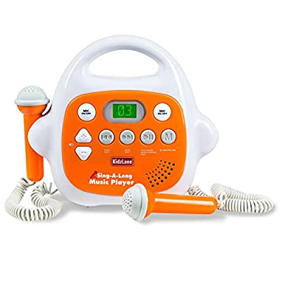 Kids MP3 Player Karaoke Machine 2 Microphone, Built in Music Storage, Bluetooth/MP3/AUX Connection