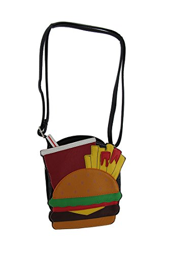 di cinghia Crossbody forma Burger borsa w a Yummy e Fries rimovibile Soda YCqvC