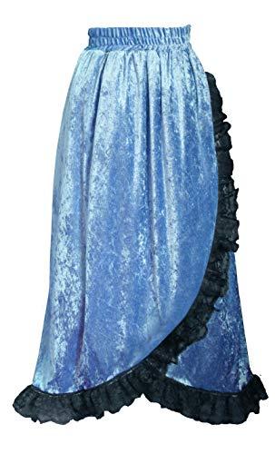 Cykxtees Steampunk Gothic Renaissance Victorian Theater Velvet & Lace Skirt