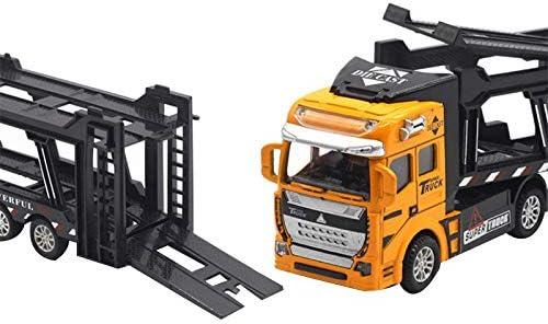 Vert Vaorwne 1:48 Nouvelle Parentalit/é Retirer Alliage Super Camion Simulation de V/éHicule Transporteur Mod/èle Voiture avec 2 Petites Voitures Jouets Int/éRessants pour Enfants Cadeau