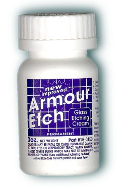 Armour Etching Cream For Glass and Mirrors Is Safe and Easy To Use. (Lot of 2) by Armour Etch