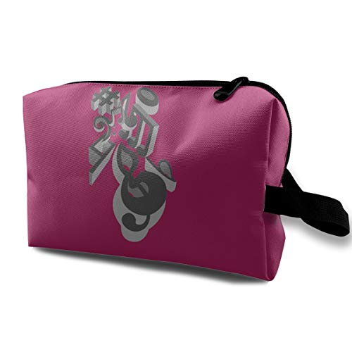 Multicolor Portable Travel Cosmetic Bag On-a-musical-perspective]()